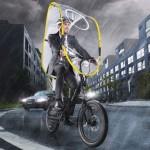 画期的な雨よけシールド発売、自転車通勤者におすすめ!