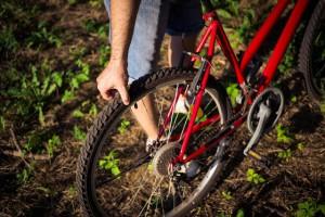 自転車 パンク